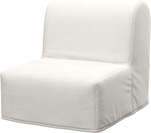 Soferia Housse Supplementaire Ikea Lycksele Chauffeuse Convertible Tissu Elegance Ecru Amazon Fr Cuisine Maison