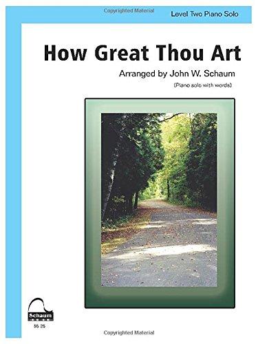 How Great Thou Art: Includes Lyrics, Sheet (Schaum Publications Sheet Solo)