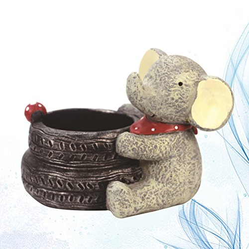 VORCOOL Cartoon Elephant Flower Pots Children's Room Desktop Decor Potted Flowerpot Creative Home Decoration Flower Vase by VORCOOL (Image #6)