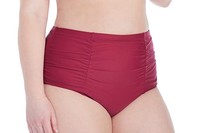 b973d0153e Raisins Curve Juniors Plus Size Summer Solstice Costa Shirred High Waist  Pant Swim Bottom-14W