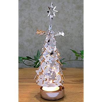 amazon com spinning candles silver metal tree with butterflies