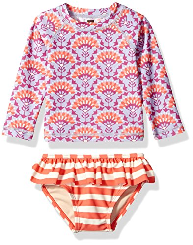 Tea Collection Baby Girls' Sea Fan Swim Set, Lilac Mist, 9_12 (Tea Collection Clothes)