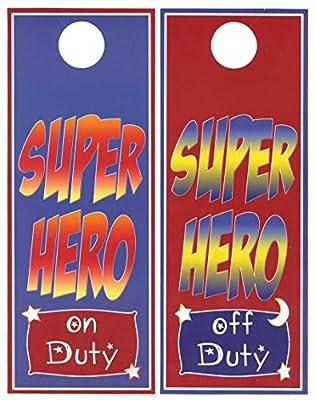 Mumsy Goose Super Hero Room Decor Door Hanger Boy