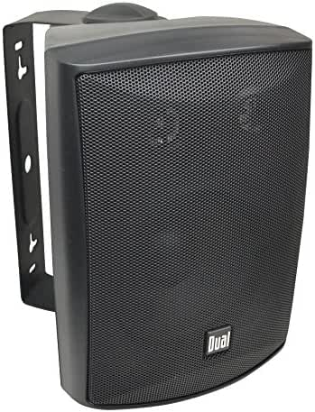 Dual LU53PB 125 Watt 3-way Indoor/Outdoor Speakers in Black (Pair)