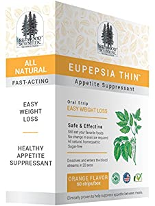 Eupepsia Thin Appetite Suppressant Easy Weight Loss Oral Strip - 60 Strips
