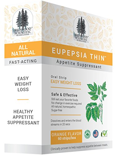 [Eupepsia Thin Appetite Suppressant Easy Weight Loss Oral Strip - 60 Strips] (Fruit Extract 60 Caps)