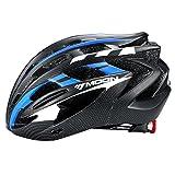 Moon Blue Adult Bike Helmet with LED Lamp