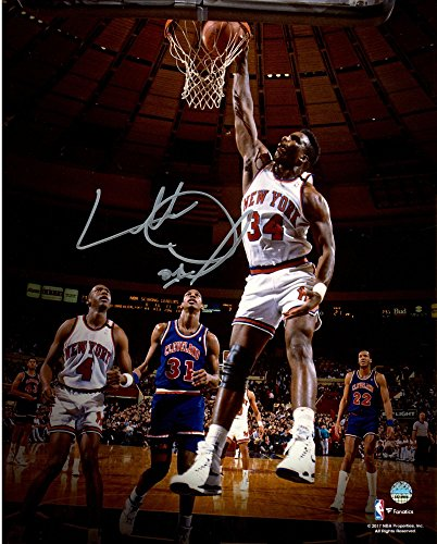 """Charles Oakley New York Knicks Autographed 8"""" x 10"""" Dunk Photograph - Fanatics Authentic Certified - Autographed NBA Photos"""