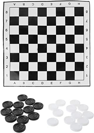 Juego de mesa de ajedrez plegable con diseño de damas de ajedrez: Amazon.es: Hogar