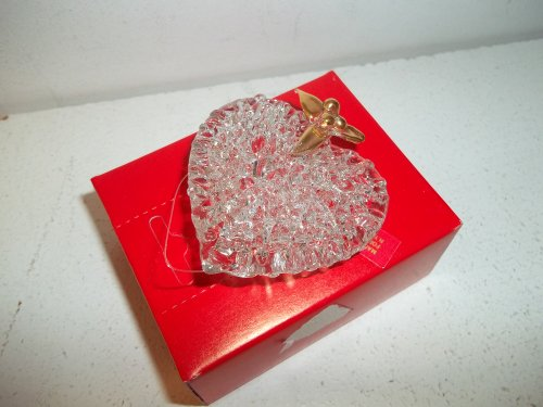 Spun Glass Ornament-Heart (Heart Spun Glass)