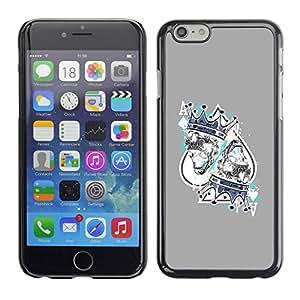 PC/Aluminum Funda Carcasa protectora para Apple Iphone 6 King Hearts Cards Poker Gambling / JUSTGO PHONE PROTECTOR