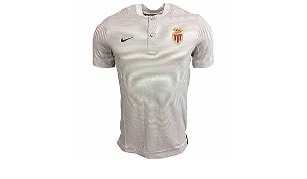 2017-2018 Monaco Nike Authentic Grand Slam Polo Shirt (Platinum ...