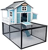 SummerHawk Ranch Pacific Coast Chicken Coop, 3-YEAR warranty - Safe & Durable Hen House sized for Healthy Chicken Keeping, Wood Pet Cage, Rabbit Hutch, Small Animal Cage, Nesting Box