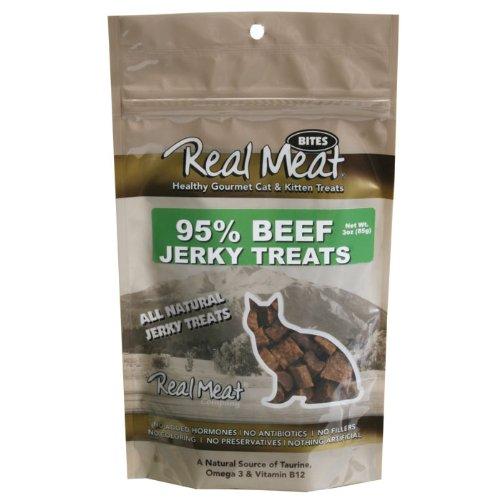 THE REAL MEAT COMPANY 828103 Cat Jerky Beef Treat, (Company Beef)