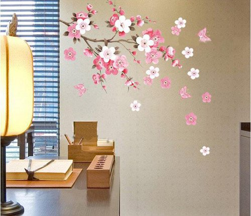 Lovely Wall Sticker Flowers Butterfly Decal Art DIY Home Wall Decor YHF 0110 S Part 7