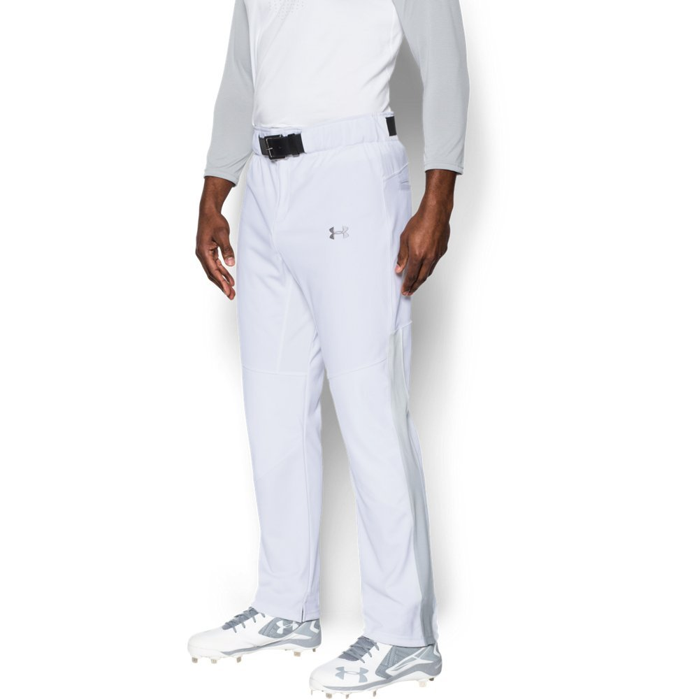 Under Armour Men's Lead Off Vented Baseball Pants, White/Baseball Gray, Medium by Under Armour