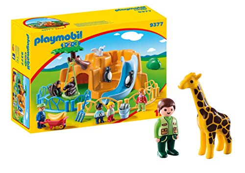 (Playmobil 1.2.3. Zoo with Zookeeper and Giraffe)