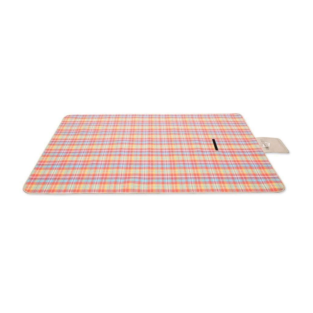 ZKKWLL Picnic Blanket Picnic Blanket Outdoor Indoor Portable Blanket Waterproof Back with Handle Foldable Beach mat Picnic Beach mat (Size : 200200cm) by ZKKWLL