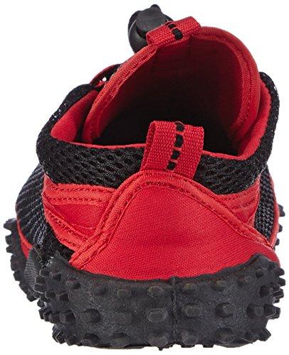 Playshoes Aqua Badeschuhe 8 Rojo Surfschuhe unisex Rojo de Zapatos material de Aquaschuhe sintético rrSq1f