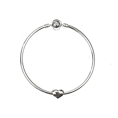 plated bangle rose sterlina silver charm bangles heart a image milano gold