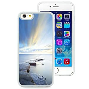 Fashionable Custom Designed Iphone 4/4S Inch TPU Phone Case With Rock Road Wonderful Blue Sky_White Phone Case