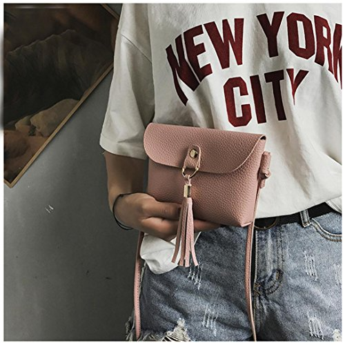 Bags Fashion Purse Messenger Seaintheson Pink Shoulder Crossbody Clearance Handbag Bags Brown Shoulder Tassel Leather Small Vintage Bag Shoulder Bag Mini f7w4Fxq7