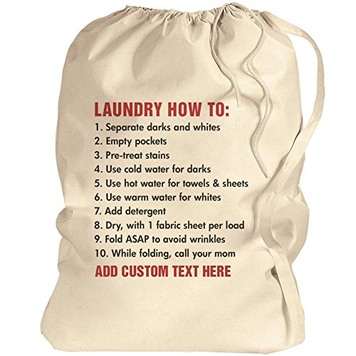 (Custom College Laundry Bag: Canvas Laundry Bag)