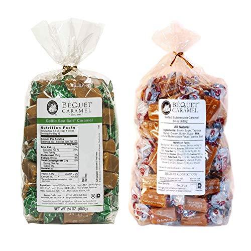 (Bequet Caramels Bundle - Butterscotch 24oz + Celtic Sea Salt 24oz)