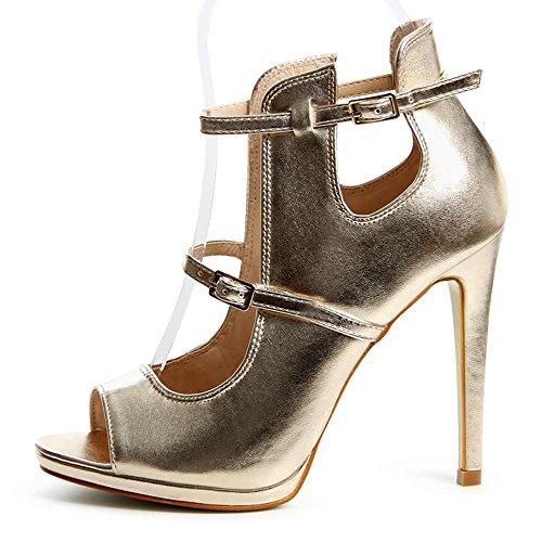 topschuhe24 - Zapatos de vestir para mujer Dorado - dorado