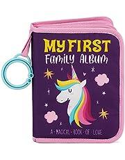 Urban Kiddy™ Baby's My First Family Album | Soft Photo Cloth Book Gift Set for Newborn Toddler & Kids (Unicorn)
