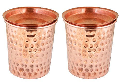 Used, Indian Copper Tumbler Hammered Glasses for Healing for sale  Delivered anywhere in USA