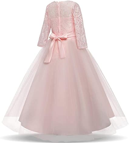 Amazon.com: Moonker - Vestido de princesa para niñas de 5 a ...