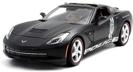 Chevrolet Corvette Stingray Policía Negro 1:18 maisto