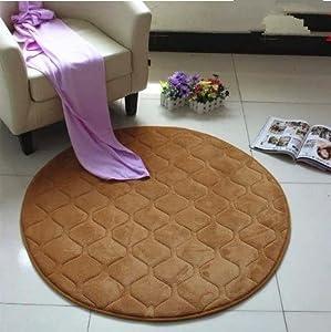 memory foam rugs for living room. Ustide Memory Foam Rugs For Living Room Coral Fleece Bedroom Area Rug  Round Khaki 2 5ft