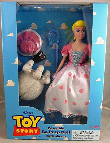 "Disney Original Toy Story 11"" Poseable Bo Peep w/ Sheep by Thinkway Toys"