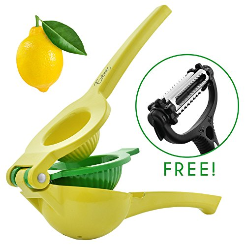 Lemon Squeezer:Manual Citrus Juicer–Lemon Juicer With Strong Handles- Lime Juicer -lemon juicer squeezer Comes With A Sharp Vegetable Peeler