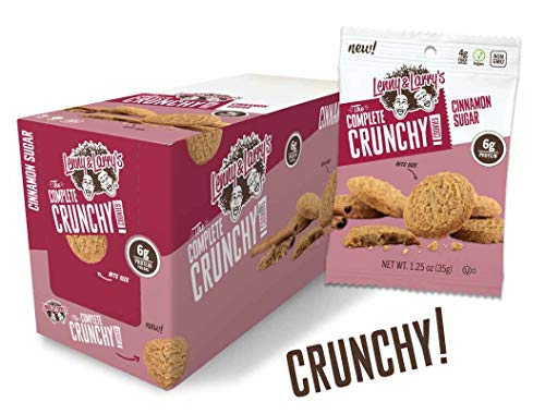 Lenny & Larry's The Complete Crunchy Cookie, Cinnamon Sugar, 1.25 Ounce Bags - 12 Count, Vegan and Non GMO Protein -