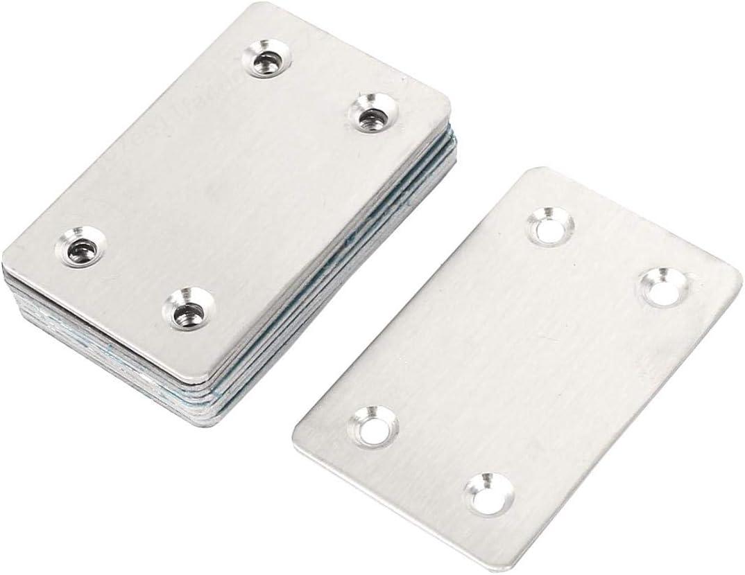 8pcs FOTN 1,6 mm Espesor de Metal Plana Recta Mending Placas de fijaci/ón Corner Brace