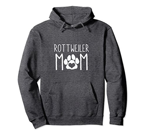 - Unisex Rottweiler Mom Hoodie Dog Lover Gift for Mothers Day Mama 2XL Dark Heather