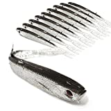 OUTERDO 10cm Red-eye Fishing Bait Gray Soft Bionic Fish Lure Soft Silicone Tiddler Bait 3.7G