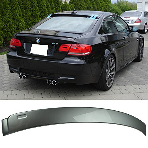 (Pre-painted Roof Spoiler Fits 2007-2013 3 Series E92 2Dr AC | AC Style Painted Sparkling Graphite Metallic (# A22) ABS Rear Wing Window Roof Top Spoiler other color available by IKON MOTORSPORTS )
