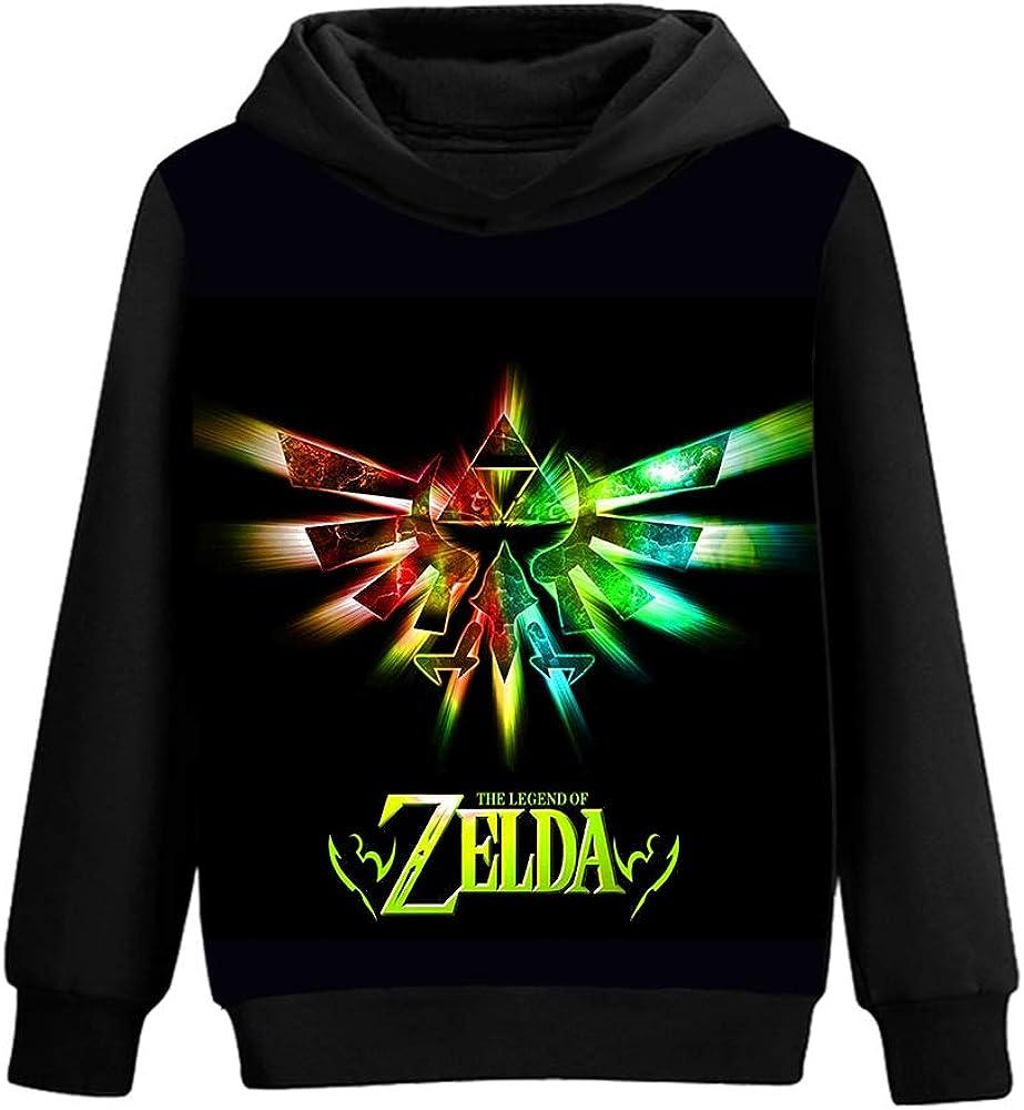 The Legend of Zelda Pullover Mens Leisure Pullover Long Sleeve Printed Hoodies Tops Autumn Comfortable Sweatshirt Unisex
