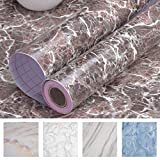"Art3d Self-Adhesive Contact Paper Countertops (200""x17.7"", Marble 2)"