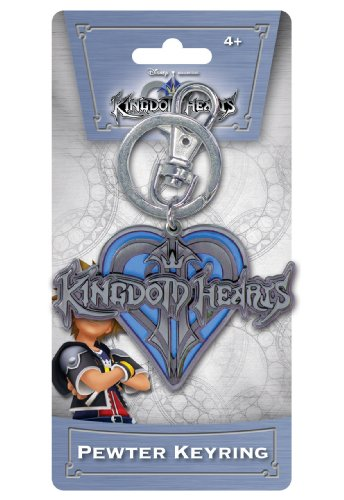 Disney Kingdom Hearts Logo Blue Heart Pewter Key (Logo Heart)