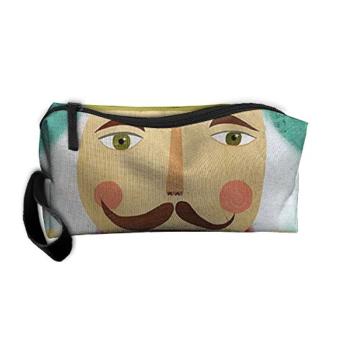 Man Being Carried Costume (Unique Soldier Figurine nutcracker ballet Portable Pencil Case Pouch Storage Bag Cosmetic Bag Travel Cosmetic Bags Zipper Tool Bag Accessories Pouch For Mens Womens Teen Girls Christmas Gifts)