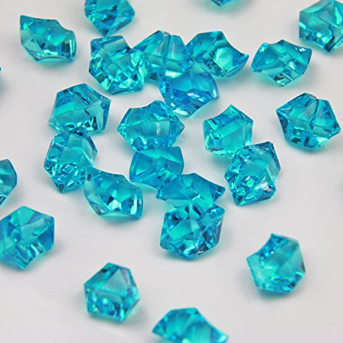 Turquoise Acrylic Ice Rock Crystals Treasure Gems for Table Scatters, Vase Fillers, Wedding, Banquet, Party, Event, Birthday Decoration(Turquoise 385)