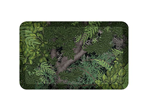 Chefs Anti Fatigue Mat - NewLife by GelPro Anti-Fatigue Designer Comfort Kitchen Floor Mat, 20x32, Hill Country Camo Green/Black Stain Resistant Surface with 3/4
