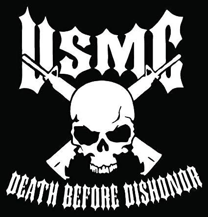 Amazon Usmc Marines Death Before Dishonor Skull Car Truck
