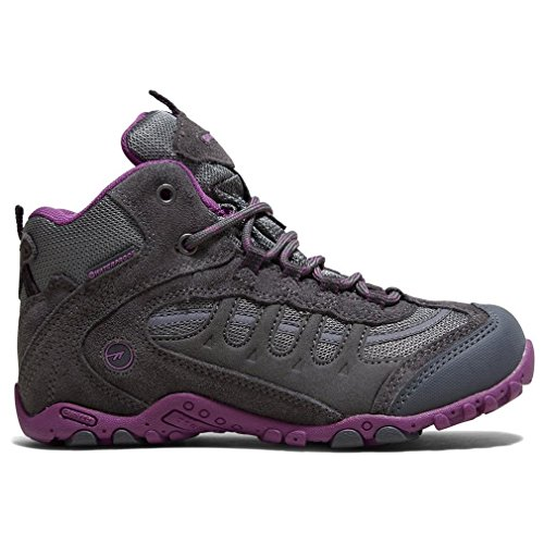 Hi Tec Hi-Tec Girls Penrith Junior Lace Up Suede Waterproof Walking Boot Pink Purple Suede UK Size 4 (EU 36, US - Junior Sizes Uk