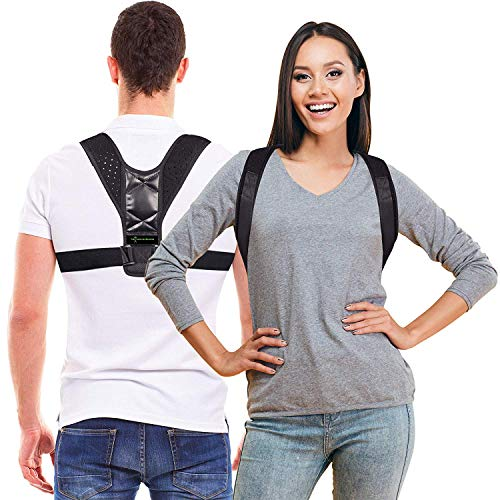 Momentum Posture Corrector for Men and Women - Postural Corrector for Thoracic Kyphosis - Shoulder and Neck Pain Relief - Back Posture Corrector Clavicle Support Device - Upper Back Brace (M)